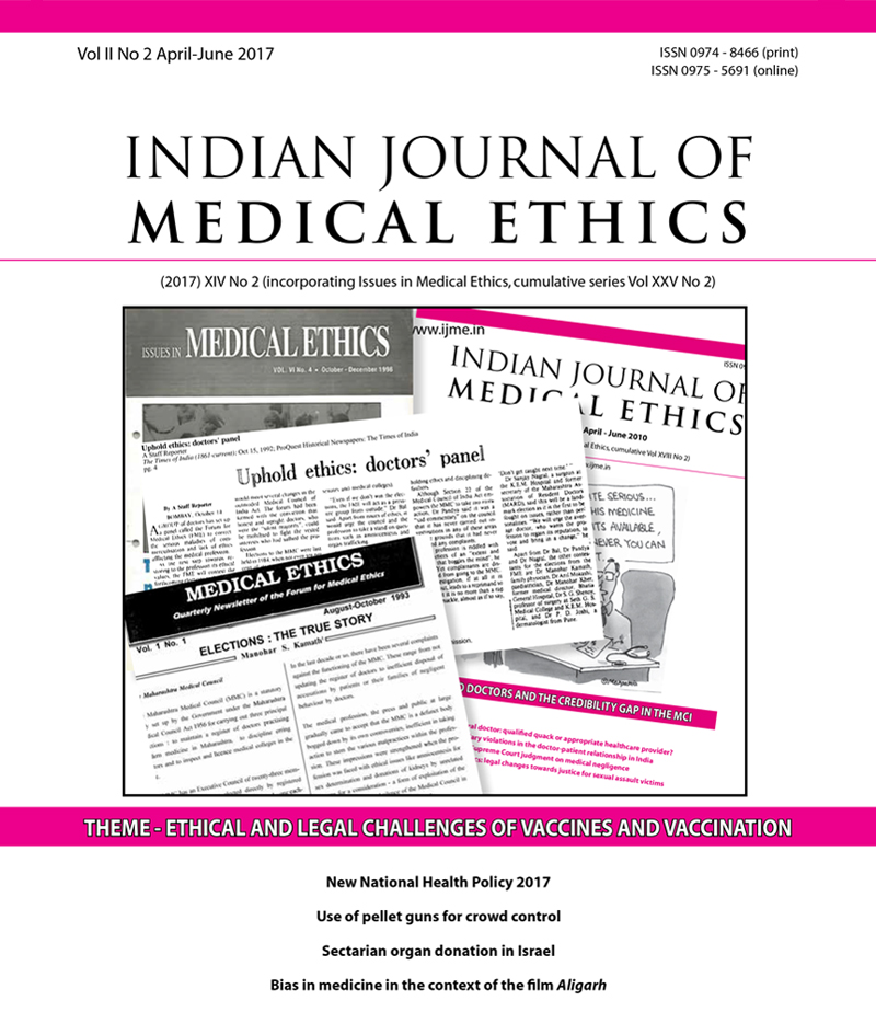 Indian Journal of Medical Ethics | Main home